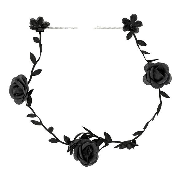 Haarspange - Black Flower