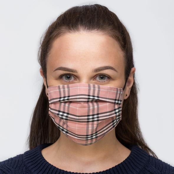 Mundbedeckung - Pink Checkered