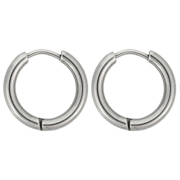 Herren Creolen - Round Stainless Steel