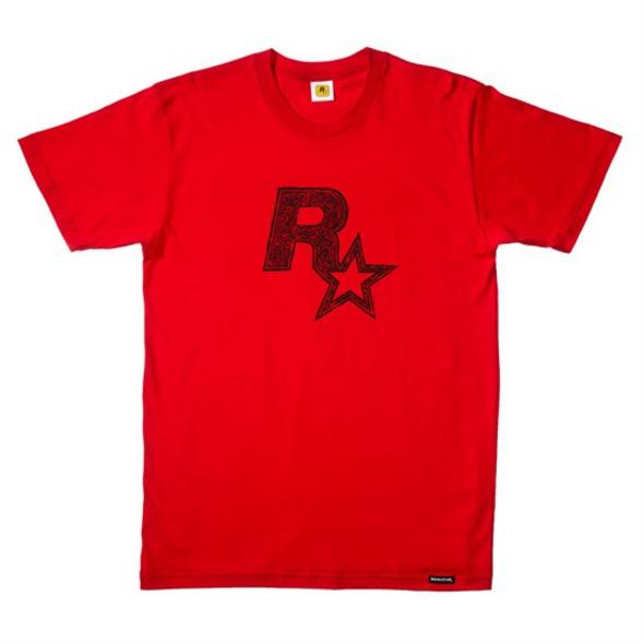 Rockstar - T-Shirt Logo rot (Größe M)