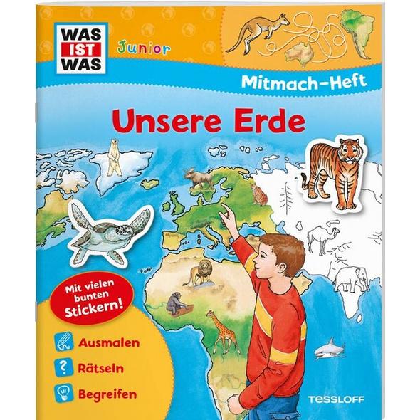 WAS IST WAS Junior Mitmach-Heft Unsere Erde