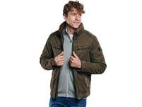 Jacke mit abnehmbarem Kragen.